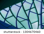 blue glass structure with... | Shutterstock . vector #1304670460