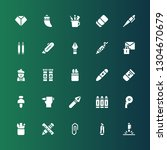 stationery icon set. collection ... | Shutterstock .eps vector #1304670679