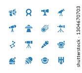 telescope icon set. collection... | Shutterstock .eps vector #1304670703