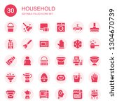 household icon set. collection... | Shutterstock .eps vector #1304670739
