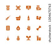 illness icon set. collection of ... | Shutterstock .eps vector #1304670763