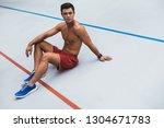 full length portrait of pensive ... | Shutterstock . vector #1304671783