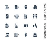 pint icon set. collection of 16 ...   Shutterstock .eps vector #1304673493