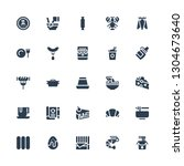 gourmet icon set. collection of ... | Shutterstock .eps vector #1304673640