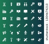 broadcast icon set. collection... | Shutterstock .eps vector #1304674213