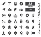 gps icon set. collection of 32... | Shutterstock .eps vector #1304674243