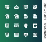 html icon set. collection of 16 ... | Shutterstock .eps vector #1304674300