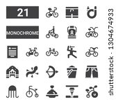 monochrome icon set. collection ... | Shutterstock .eps vector #1304674933