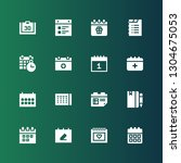 month icon set. collection of... | Shutterstock .eps vector #1304675053
