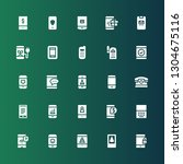 cellphone icon set. collection...