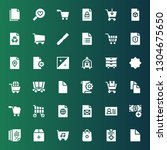 add icon set. collection of 36... | Shutterstock .eps vector #1304675650