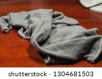 grey wet rag on the dirty... | Shutterstock . vector #1304681503