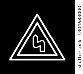 vector double bend to the left...   Shutterstock .eps vector #1304683000