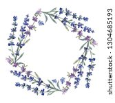 purple lavender. floral... | Shutterstock . vector #1304685193