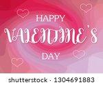 happy valentine's day words on... | Shutterstock . vector #1304691883