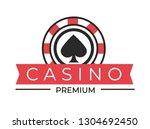gambling casino club isolated... | Shutterstock .eps vector #1304692450