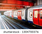 underground train at the train... | Shutterstock . vector #1304700376