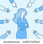 ashamed society woman. sadness... | Shutterstock .eps vector #1304710963