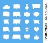 vector set signs for social...   Shutterstock .eps vector #1304713066