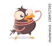 funny cartoon illustration of a ... | Shutterstock .eps vector #1304717353