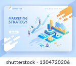 vector illustration isometric... | Shutterstock .eps vector #1304720206