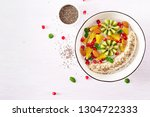 fitness food. delicious and... | Shutterstock . vector #1304722333