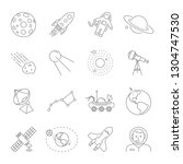 astronomy and space symbols...   Shutterstock .eps vector #1304747530
