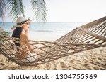 summer vacations concept  happy ... | Shutterstock . vector #1304755969