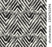 monochrome chevron motif... | Shutterstock .eps vector #1304761096