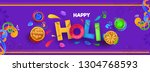 creative color text holi with... | Shutterstock .eps vector #1304768593