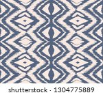 ikat seamless pattern. vector... | Shutterstock .eps vector #1304775889