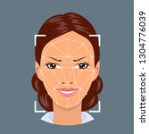 face recognition   biometric...   Shutterstock .eps vector #1304776039
