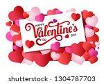design banner with lettering... | Shutterstock .eps vector #1304787703