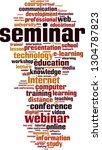 seminar word cloud concept.... | Shutterstock .eps vector #1304787823
