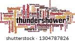 thundershower word cloud... | Shutterstock .eps vector #1304787826