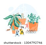 concept of sustainable  eco or... | Shutterstock .eps vector #1304792746