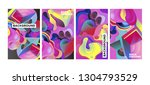 vector abstract 3d colorful... | Shutterstock .eps vector #1304793529