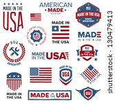 set of various made in the usa... | Shutterstock . vector #130479413