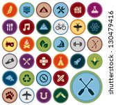set of scout merit badges for... | Shutterstock . vector #130479416