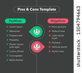 simple infographic for pros and ... | Shutterstock .eps vector #1304794663