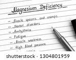 symptoms of magnesium... | Shutterstock . vector #1304801959