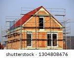 detached house under... | Shutterstock . vector #1304808676