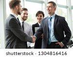 close the deal. great job ... | Shutterstock . vector #1304816416