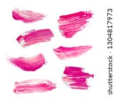pink hand painted elements for... | Shutterstock . vector #1304817973