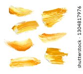 yellow hand painted elements... | Shutterstock . vector #1304817976