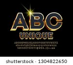vector black and gold chic 3d... | Shutterstock .eps vector #1304822650