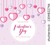 happy holidays  valentines day... | Shutterstock .eps vector #1304822746