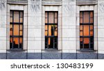 A Sunset Reflected In The Windows Of The Cincinnati Museum Center At Union Terminal, Cincinnati Ohio USA