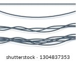 electric cables.realistic... | Shutterstock .eps vector #1304837353