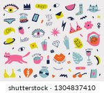 collection with hand phrases... | Shutterstock .eps vector #1304837410
